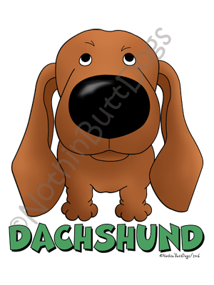 Big Nose Dachshund Smooth Dark Colored T-shirts