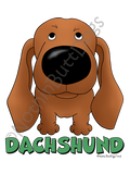Big Nose Dachshund Smooth Light Colored T-shirts