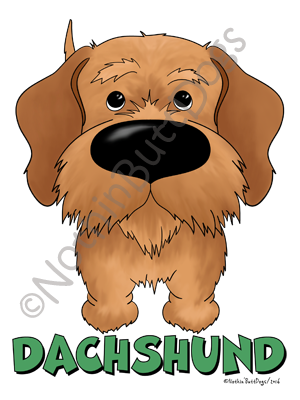 Big Nose Dachshund Wire Haired Light Colored T-shirts