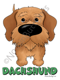Big Nose Dachshund Wire Haired Dark Colored T-shirts