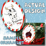 Dalmatian Antler Christmas Ornament