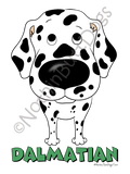 Big Nose Dalmatian Dark Colored T-shirts