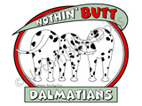 Nothin' Butt Dalmatians Dark Colored T-shirts