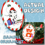 Dalmatian Santa Hat Christmas Ornament