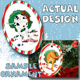 Dalmatian Wreath Christmas Ornament