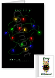 Fawn Great Dane Merry Christmas Lights Greeting Cards