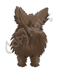 Dark Cairn Terrier Butt