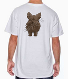 Dark Cairn Terrier Butt White T-shirt