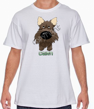 Big Nose Dark Cairn Terrier T-shirts - More Colors Available