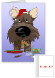 Cairn Terrier Santa's Cookies Greeting Cards