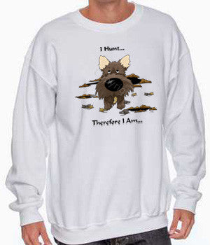 i hunt cairn terrier sweatshirt
