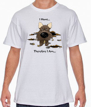 I Hunt Dark Cairn Terrier Shirts - More Styles and Colors Available