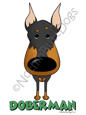 Big Nose Doberman Pinscher Dark Colored T-shirts
