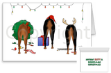 Nothin' Butt A Doberman Pinscher Christmas Greeting Cards