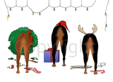 Nothin' Butt A Doberman Christmas Greeting Cards