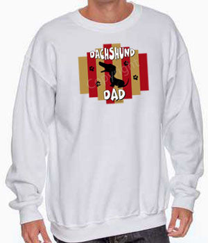 Dachshund dad stripes sweatshirt