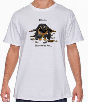 I Hunt Smooth Black and Tan Dachshund Shirts - More Styles and Colors Available