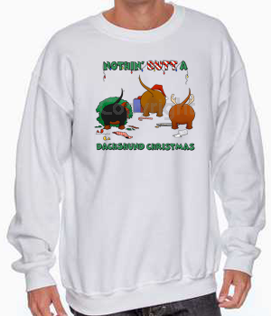 Nothin' Butt A Dachshund Christmas Sweatshirt