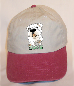 Custom Duke Cap - Stone Washed w/Maroon Bill