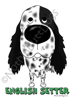 Big Nose English Setter Dark Colored T-shirts
