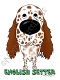 Big Nose English Setter Light Colored T-shirts