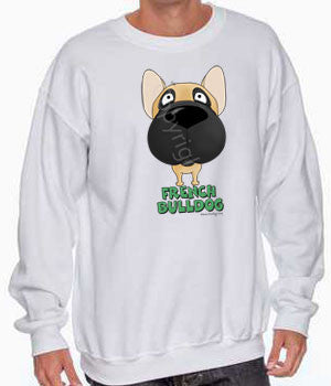 Big Nose French Bulldog (Fawn/Black) Shirts - More Styles and Colors Available