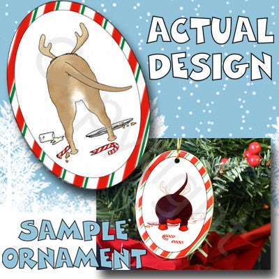 Pitbull Butt Christmas Ornament