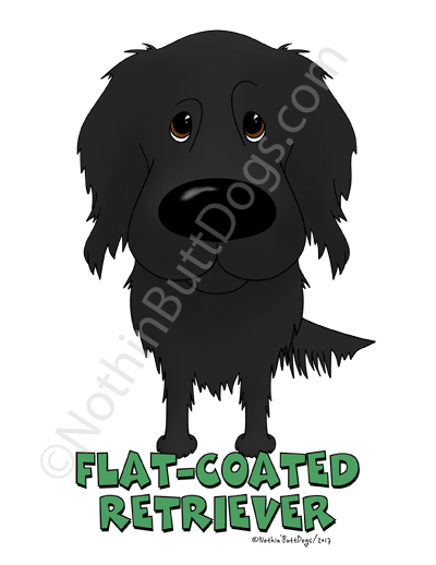 Big Nose Flat-Coated Retriever Dark Colored T-shirts