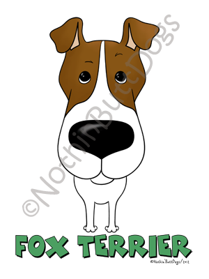 Big Nose Smooth Fox Terrier Light Colored T-shirts