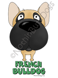 Big Nose French Bulldog Dark Colored T-shirts