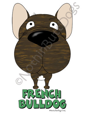 Big Nose French Bulldog Light Colored T-shirts