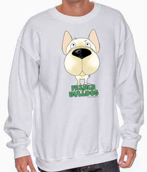 big nose french bulldog sweatshirt