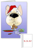 French Bulldog Santa's Cookies Greeting Cards