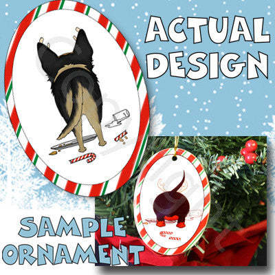 german shepherd christmas antlers