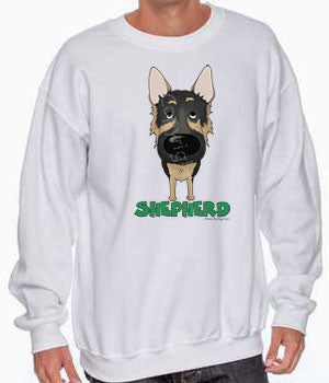 big nose German Shepherd sweatshirt
