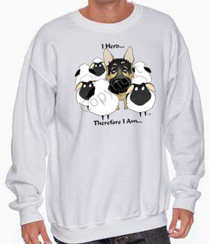 german shepherd i herd sweatshirt