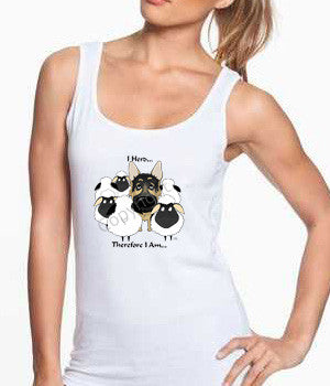 german shepherd i herd tank top