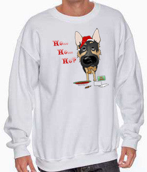 german shepherd santa sweatshirt