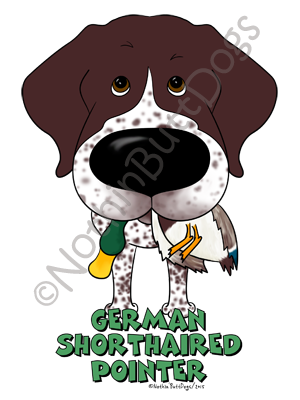 Big Nose German Shorthaired Pointer Light Colored T-shirts
