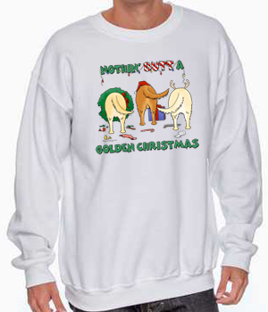 Nothin' Butt A Golden Retriever Christmas Sweatshirt