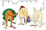 Nothin' Butt A Golden Retriever Christmas Greeting Cards