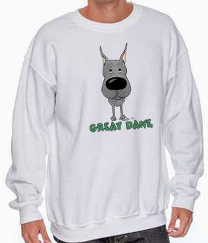 Big Nose Great Dane (Blue) Shirts - More Styles and Colors Available