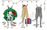 Nothin' Butt A Great Dane Christmas Greeting Cards
