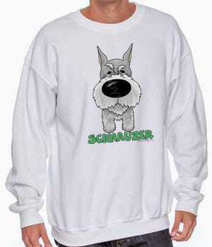 big nose Schnauzer sweatshirt