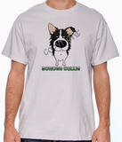 Big Nose Border Collie Grey T-shirt