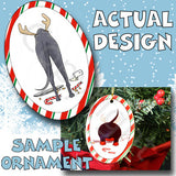 Greyhound Antler Christmas Ornament