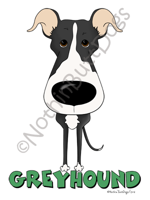 Big Nose Greyhound Light Colored T-shirts