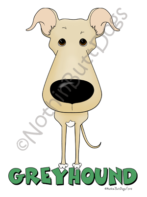 Big Nose Greyhound Dark Colored T-shirts