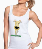 Big Nose Greyhound Women's Tank Top - White