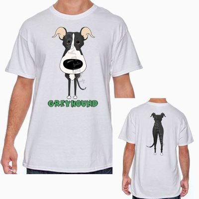 Big Nose Greyhound T-shirts - More Colors Available